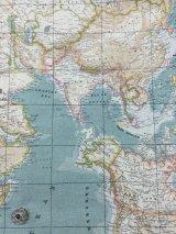世界地図-ブルー